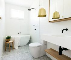 Beautiful White Monochrome Scandinavian Bathrooms 16