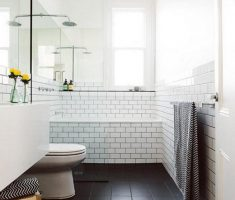 Beautiful White Monochrome Scandinavian Bathrooms 18