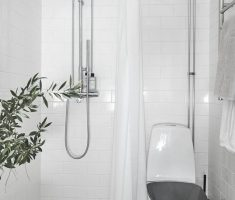 Beautiful White Monochrome Scandinavian Bathrooms 2