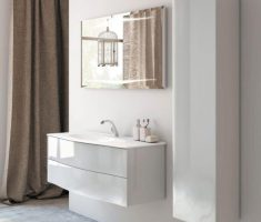 Beautiful White Monochrome Scandinavian Bathrooms 3