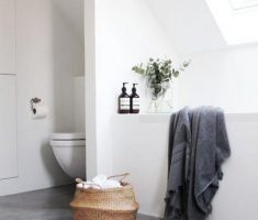 Beautiful White Monochrome Scandinavian Bathrooms 5