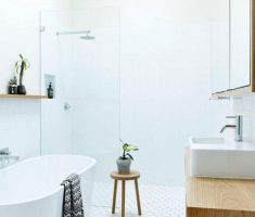 Beautiful White Monochrome Scandinavian Bathrooms 7