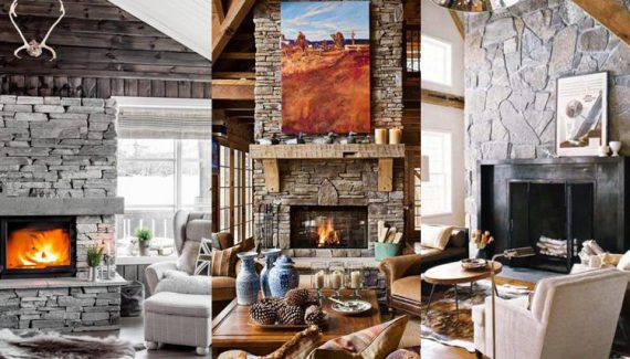 Amazing Stone Fireplace Design and Decorations