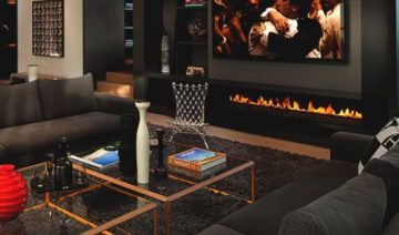 Bachelor Pad Men Black Living Room Decor