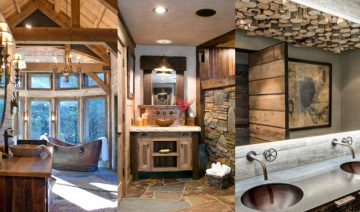 Beautiful Rustic Bathroom Ideas To Warm Your Winter