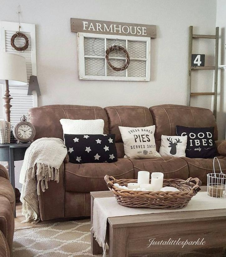 Page 134 Contemporary Living Room Decor: 40+ Gorgeous Farmhouse Modern And Rustic Living Room