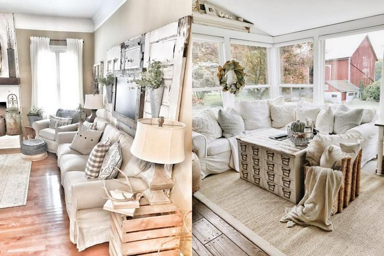 40+ Gorgeous Farmhouse Modern And Rustic Living Room