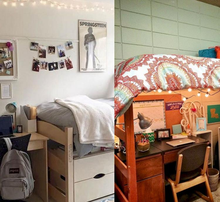 fascinanting diy dorm room decorating ideas on a budget 20 ideas will inspire you. Black Bedroom Furniture Sets. Home Design Ideas