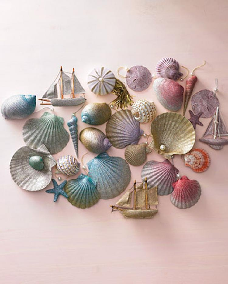20 easy diy glitter shell crafts ideas for Shell craft ideas