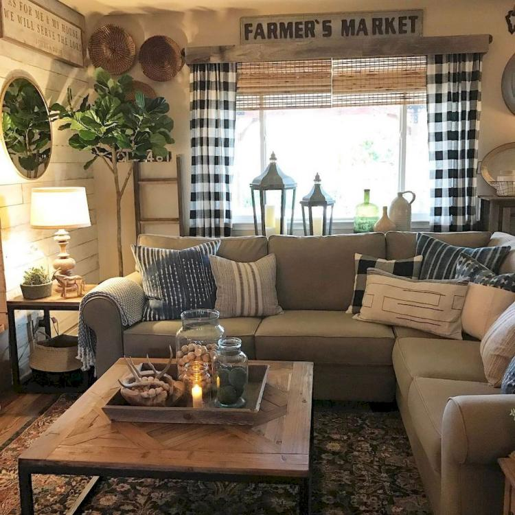 Modern Farmhouse Living Room First Apartment Ideas Page 21 Of 21