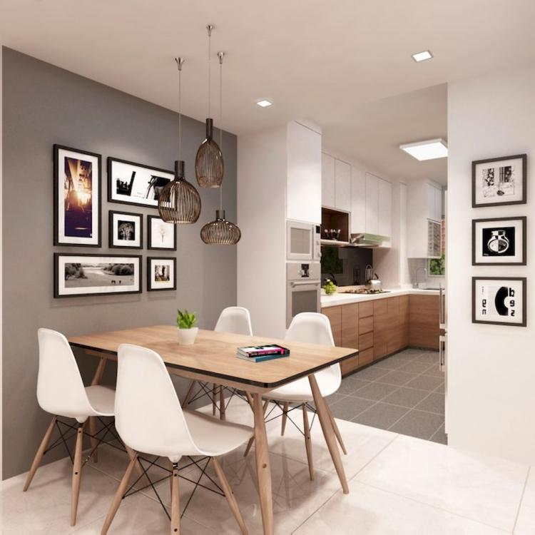 First Apartment: Small And Clean First Apartment Dining Room Ideas