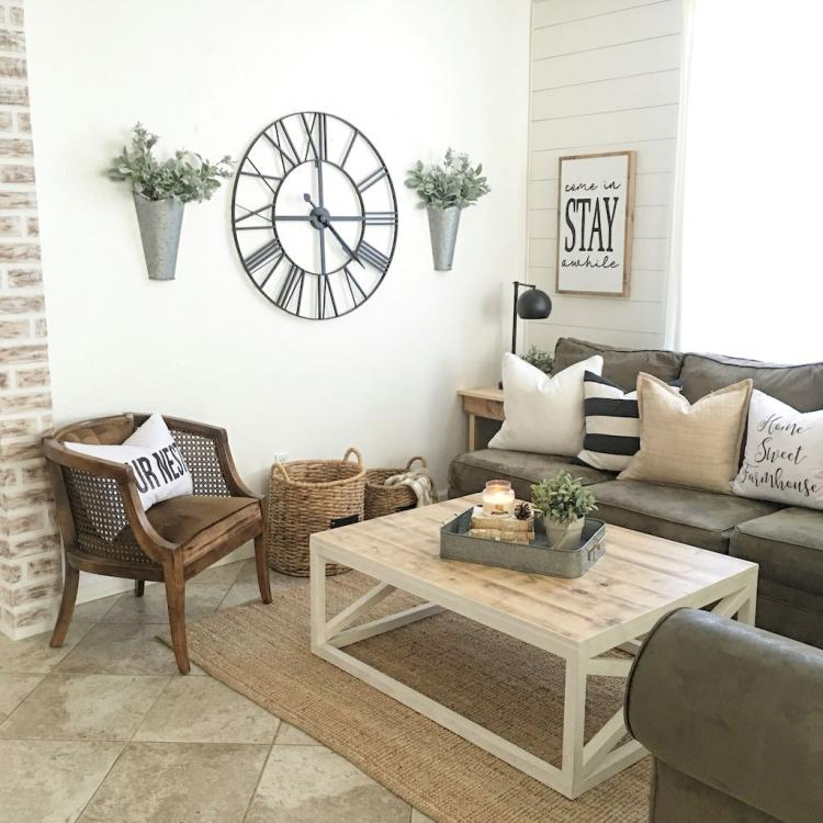 Modern Farmhouse Living Room: 45+ Cool Modern Farmhouse Living Room Decor Ideas