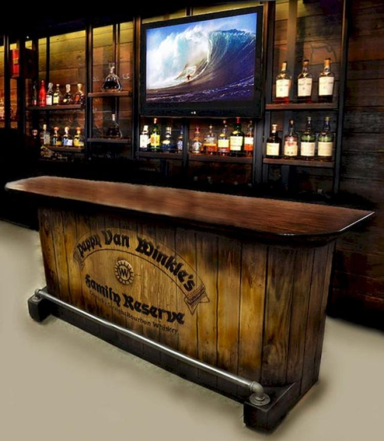 Bar Top Design Ideas: 40 Cool Rustic Bar Design