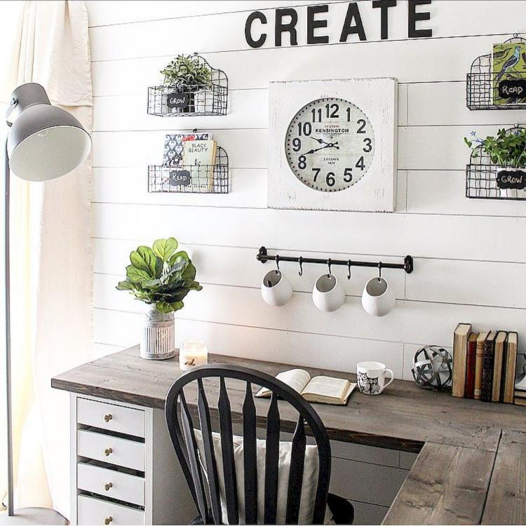Admirable 40 Easy Diy Farmhouse Desk Decor Ideas On A Budget Interior Design Ideas Gresisoteloinfo