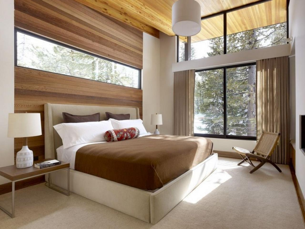 Minimalist Design for Bedroom on Dream House Design with Wooden Roofing