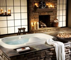 bathroom-decoration-design-with-fireplace