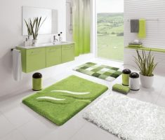 comfortable-bathroom-decoration-with-green-and-white-style-colours