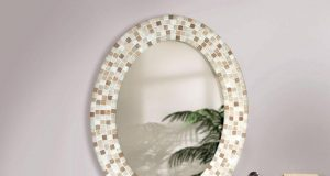 fancy-oval-bathroom-mirrors-with-tiles-framing