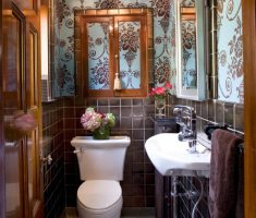 french-bathroom-decoration-ideas-with-floral-wall-decor-for-small-space