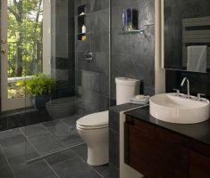 adorable-bathroom-decoration-design-for-small-space-with-grey-wall-tiles