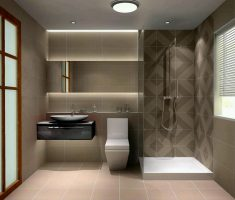 interesting-bathroom-decoration-with-grey-tiles-wall