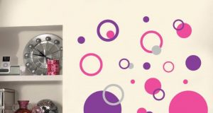 admirable-pink-purple-polka-dot-wall-decals