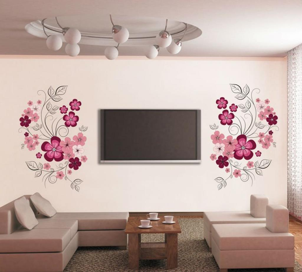 alluring-flowers-for-removable-wall-decals-inspirations-living-room