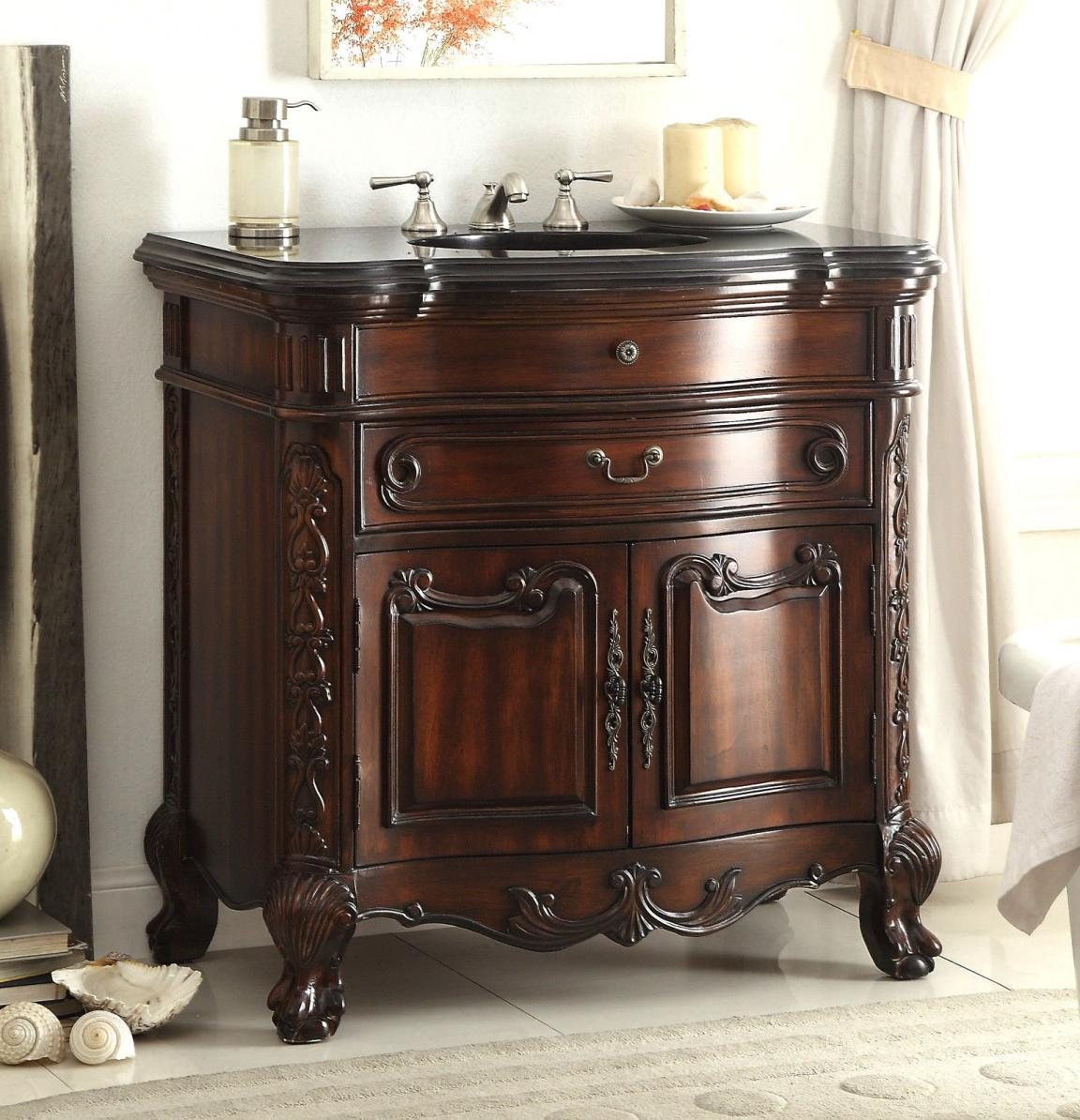 alluring-wooden-vessel-sink-vanities-with-carving