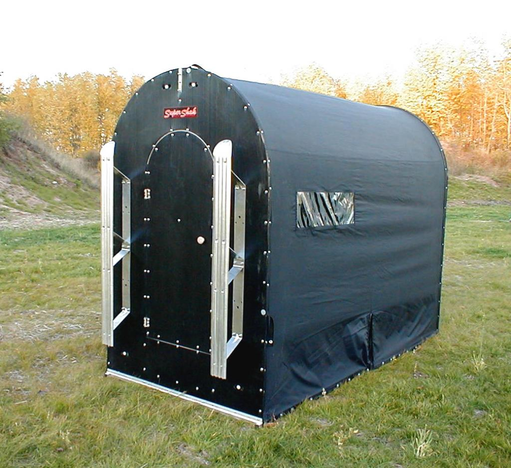 black-small-portable-ice-fishing-house