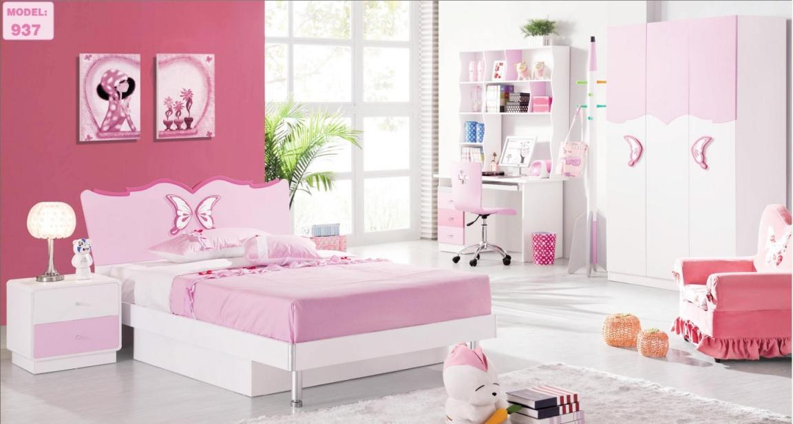 pink-mild-girls-bedroom-furniture