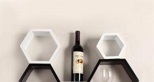 unique-hexagonal-style-of-wall-mount-shelf-design