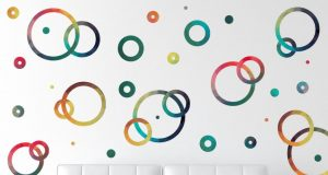 unique-round-circles-removable-wall-decals-inspirations