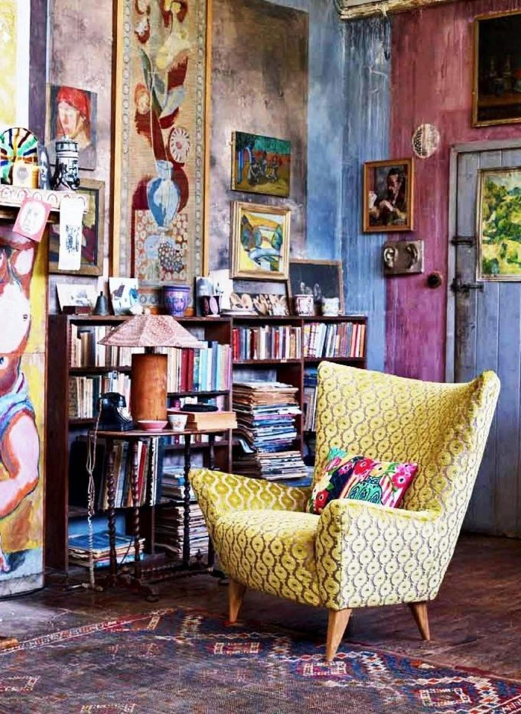 bohemian-interior-design-ideas-reading-chair