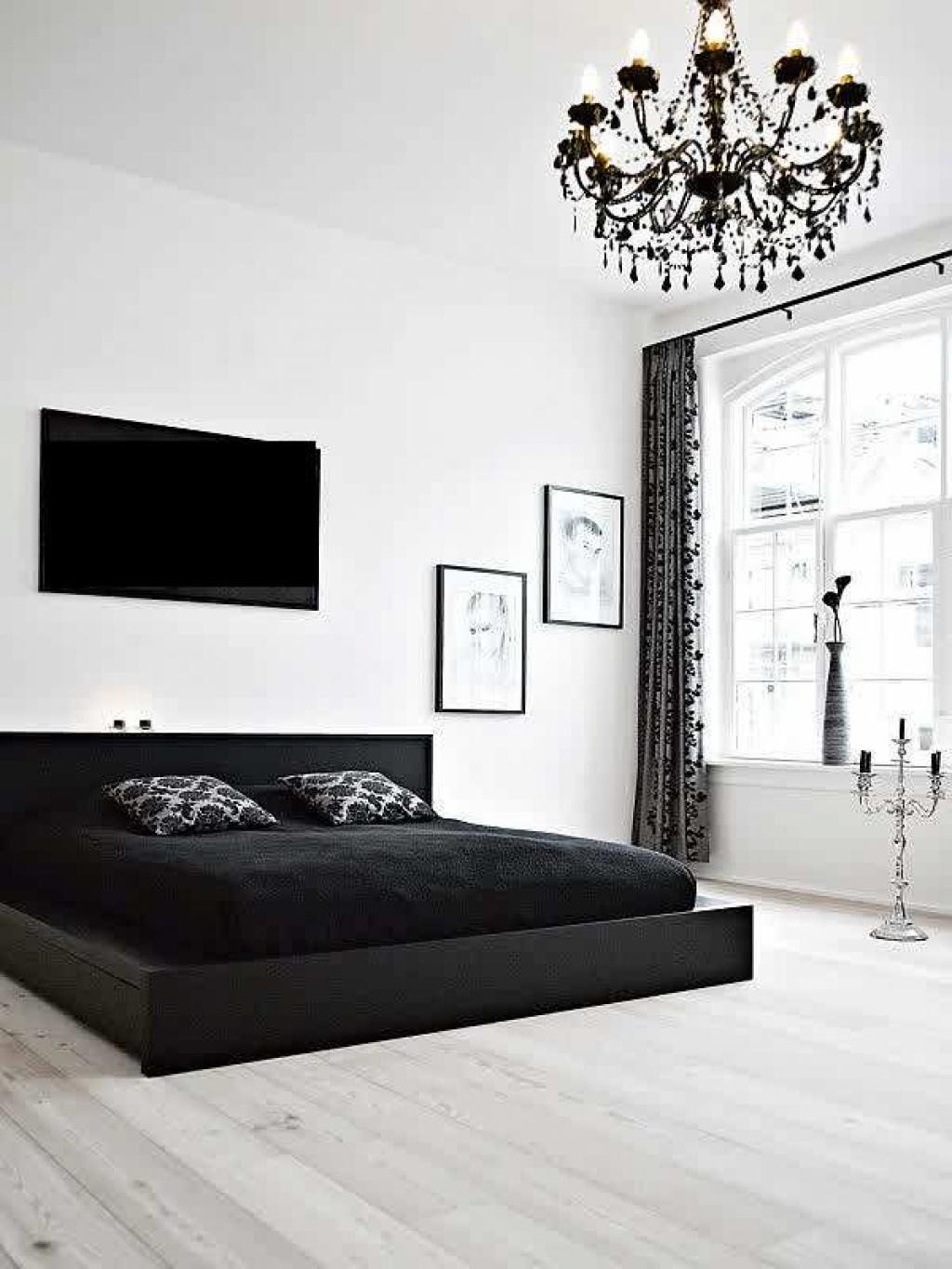 alluring-black-bedroom-decorating-ideas-for-men-with-black-and-white-colors-decor