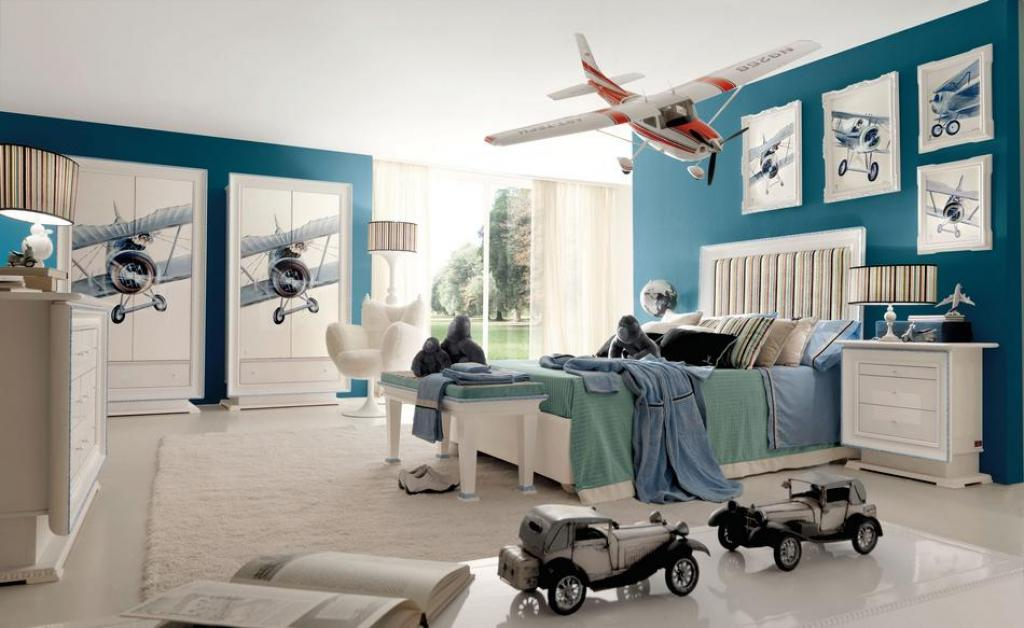 boys-room-ideas-with-plane-wall-decorations