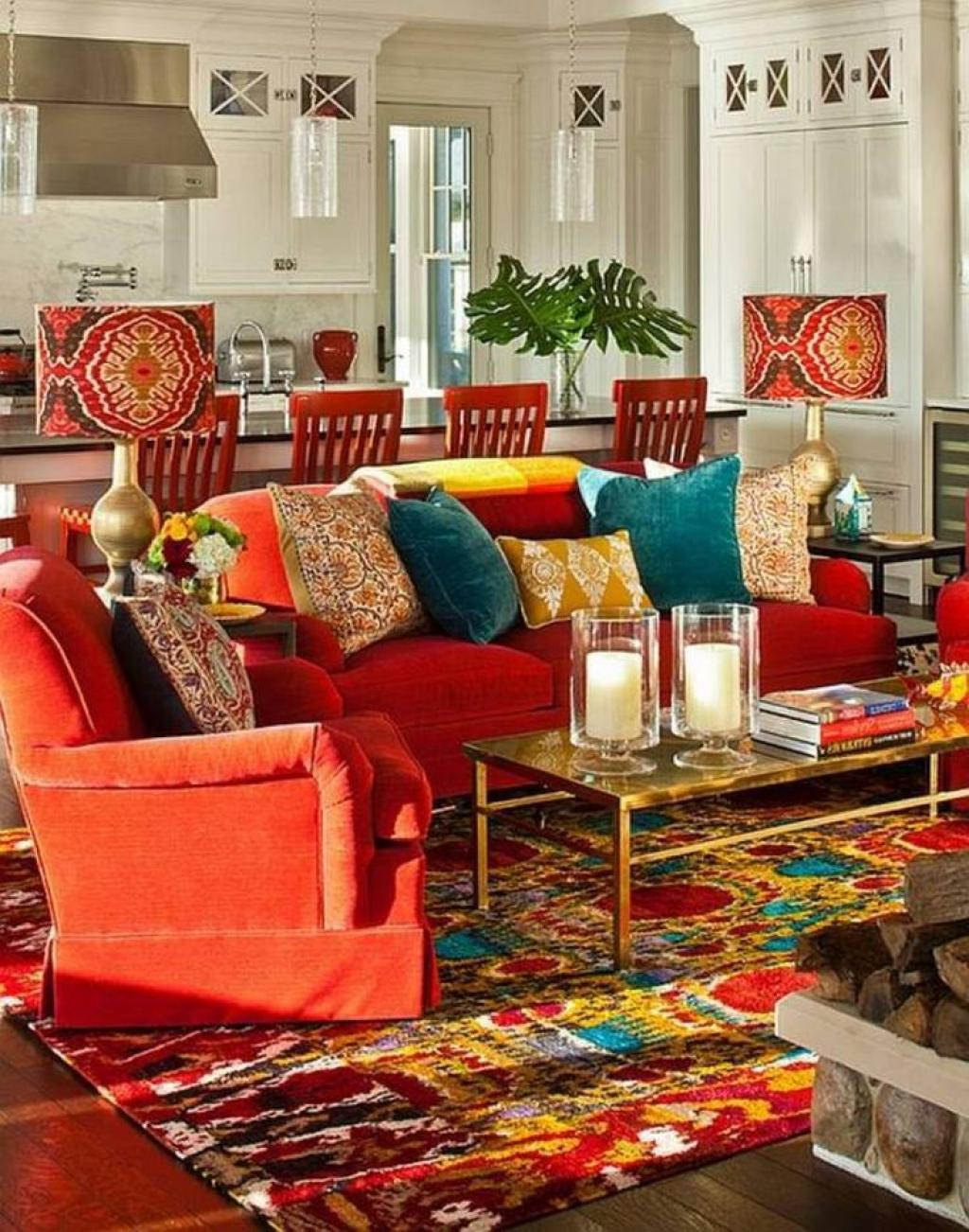 cheerful-bohemian-interior-design-ideasfor-living-room