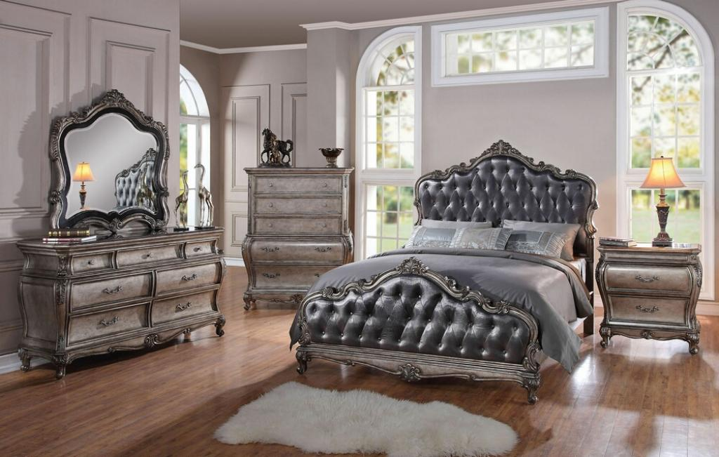glossy-grey-cushion-headboard-bedroom-sets-for-master-bedroom