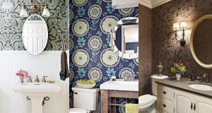 40 Stylish Bathroom Wallpaper Ideas Inspirations